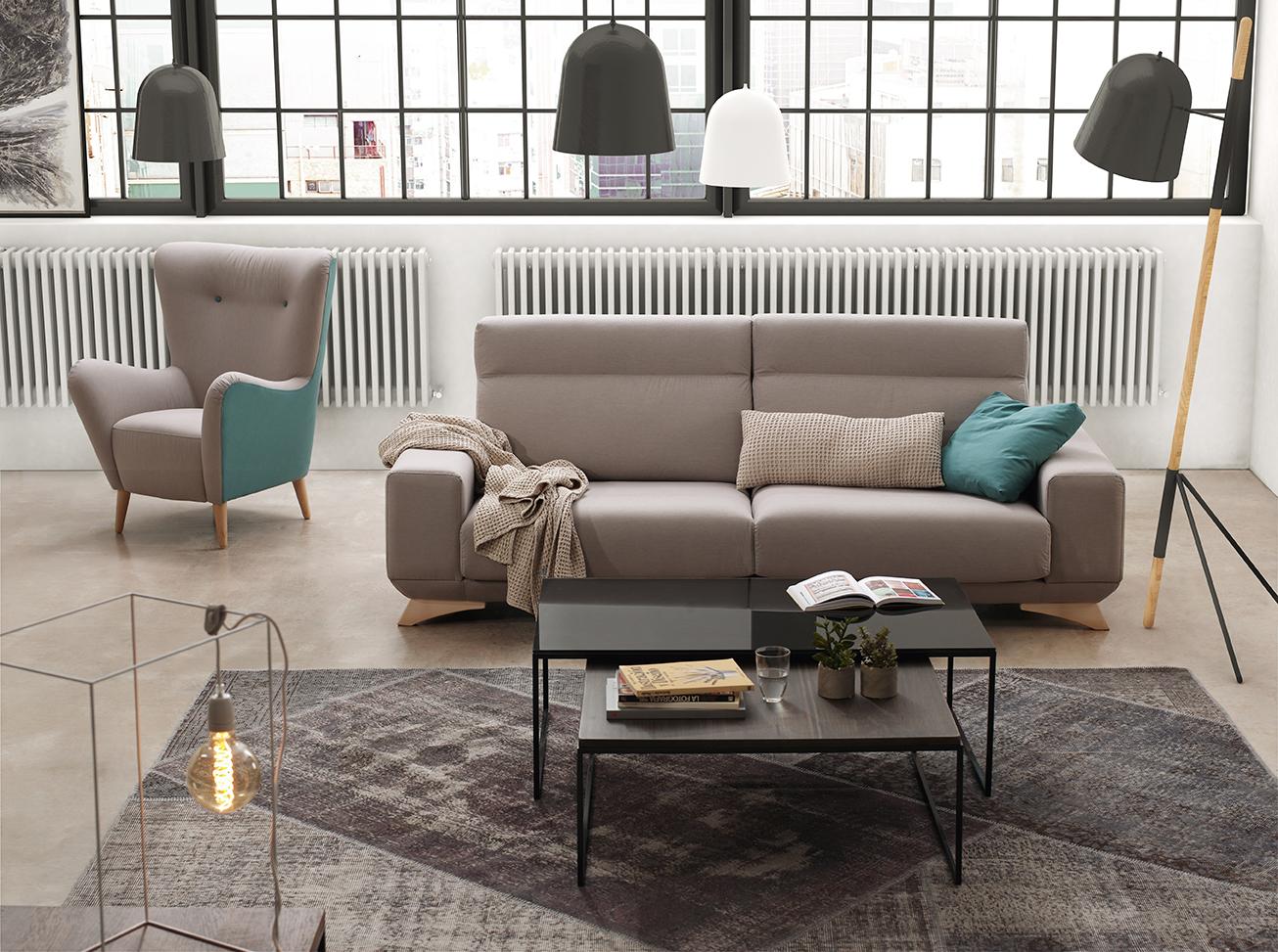 Alfombra de color gris que da calidez a tu hogar.