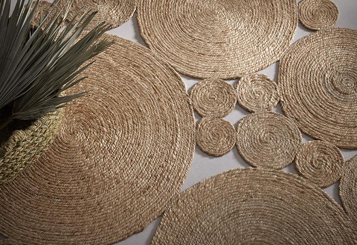 Alfombras de yute, un toque natural en tu decoración.