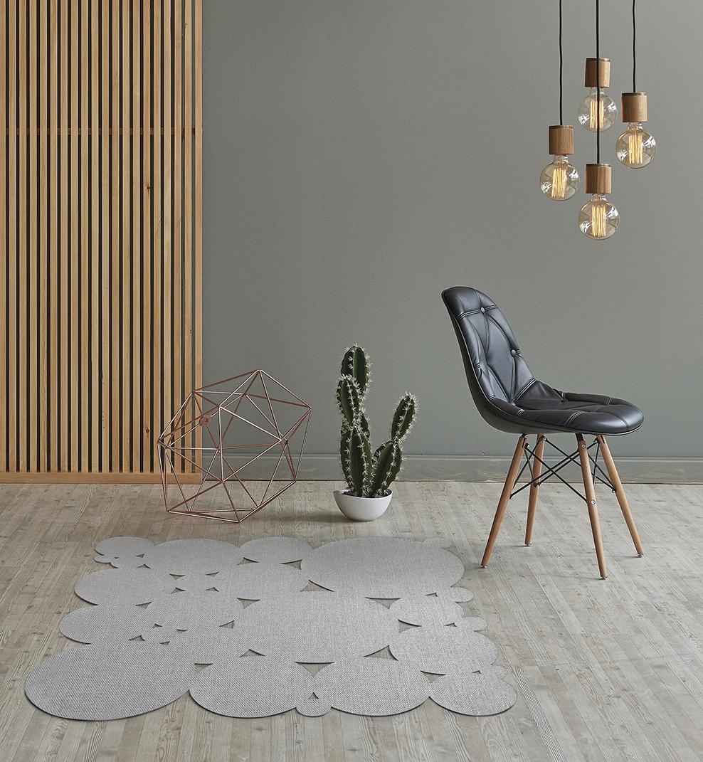 Alfombras de color gris, producto neutro y dinámico