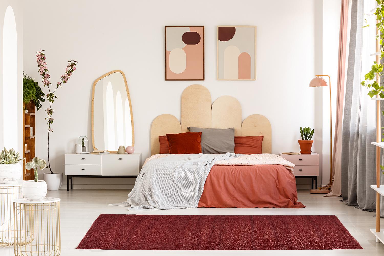 Medida de una alfombra para la habitación