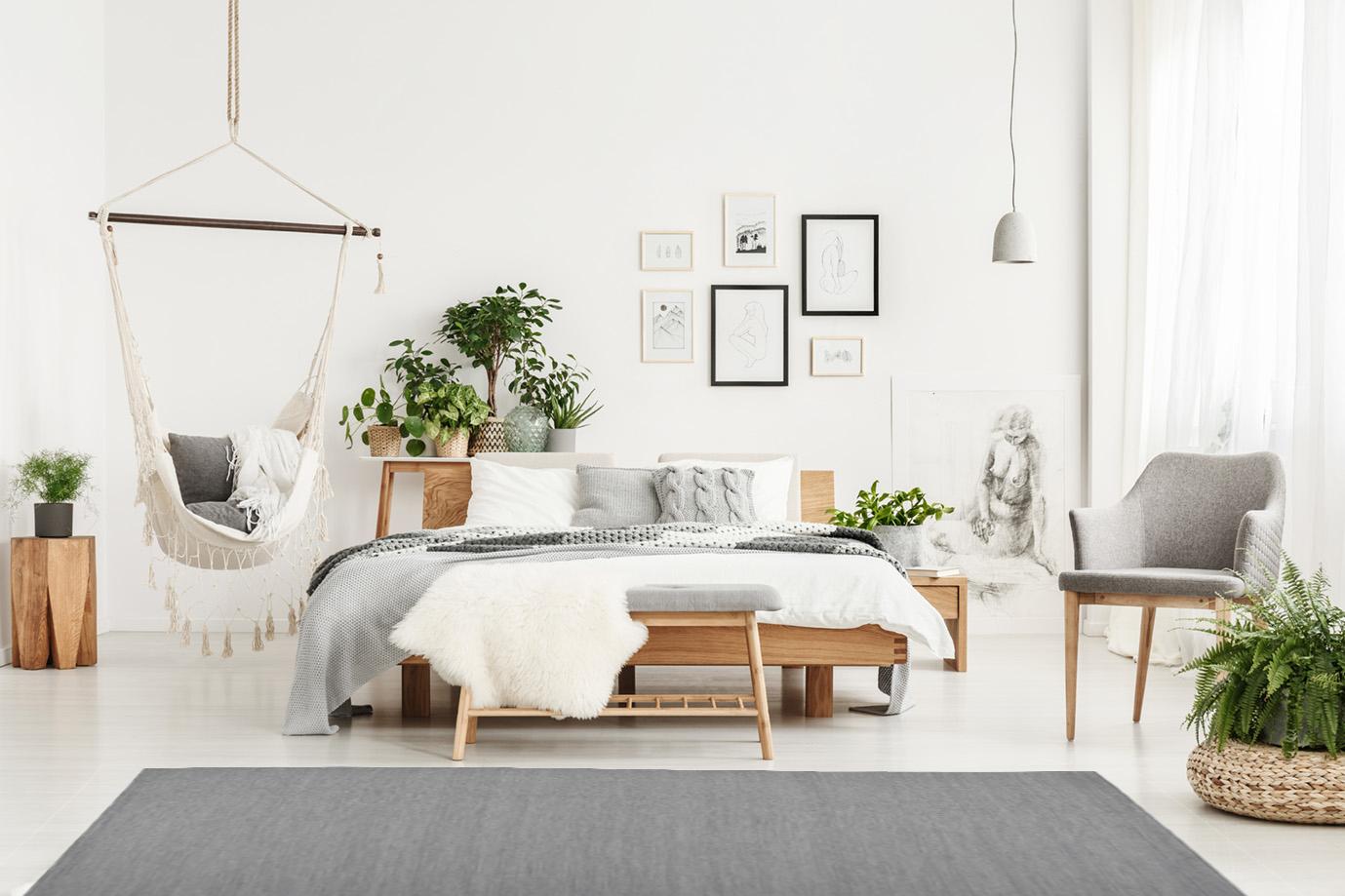 Alfombras de color gris, equilibrio en tu hogar.
